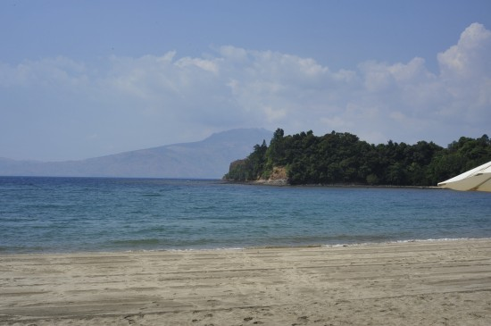From the beach at Anvaya Cove in Subic Bay